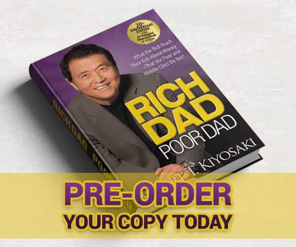 Pre-Order your copy of Rich Dad Poor Dad, special 20th Anniversary Edition today!