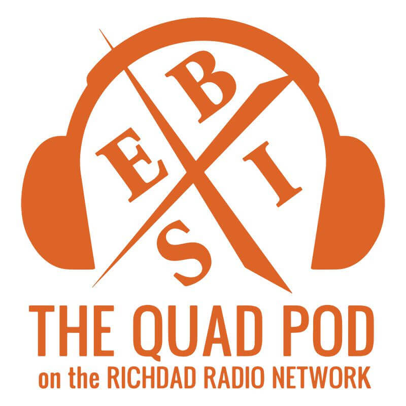 The Quad Pod | Part of the Rich Dad Radio Network logo