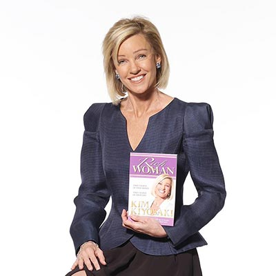 Kim Kiyosaki with her best-selling book Rich Woman
