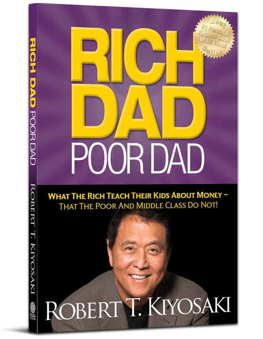 Rich Dad Poor Dad book cover 3d
