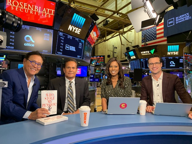 robert kiyosaki joins cheddar tv
