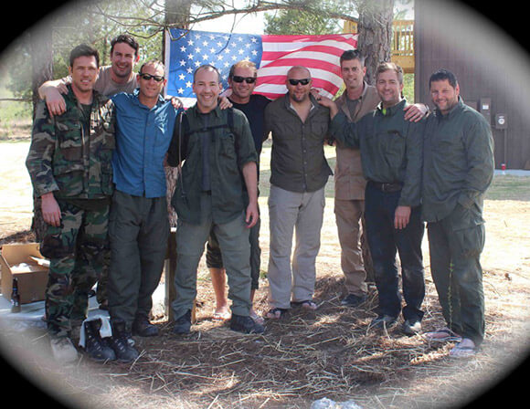 Josh Lannon with team at US Army Special Ops