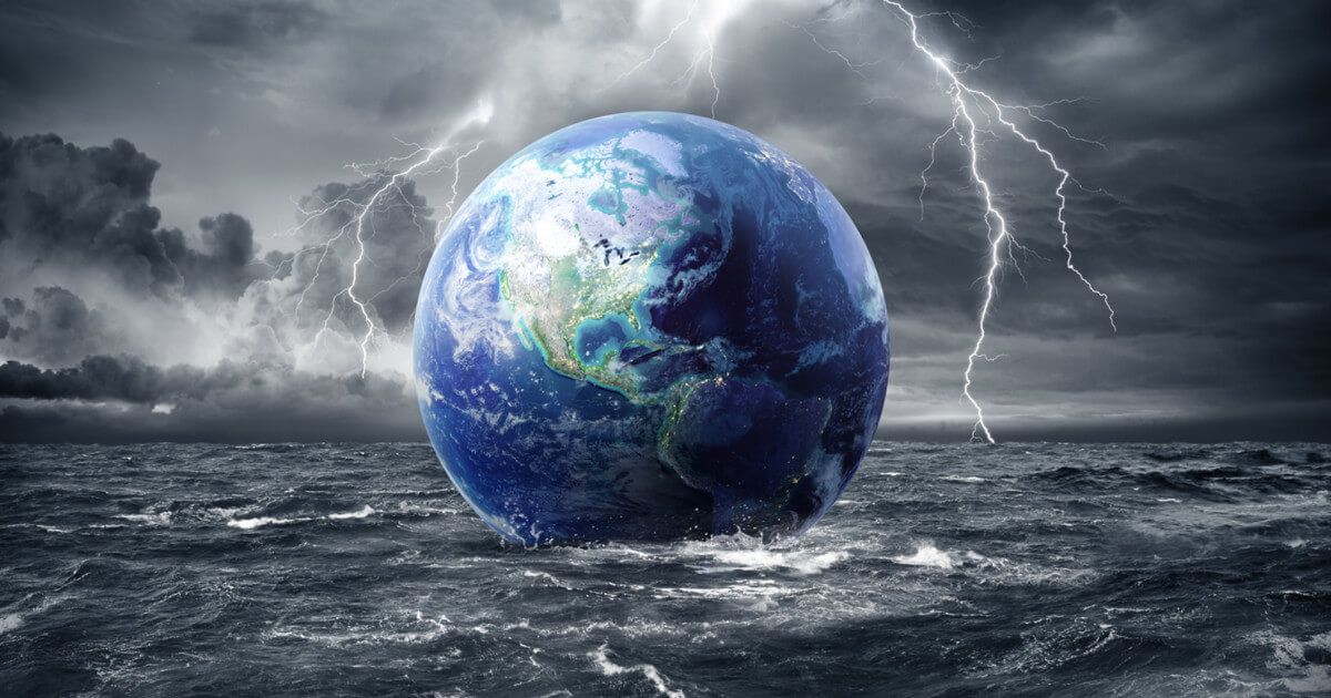 the world in stormy weather