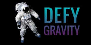 defy gravity man in space