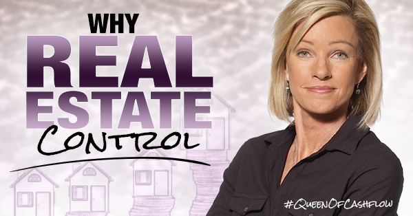 Kim Kiyosaki on stage educating on real estate investing