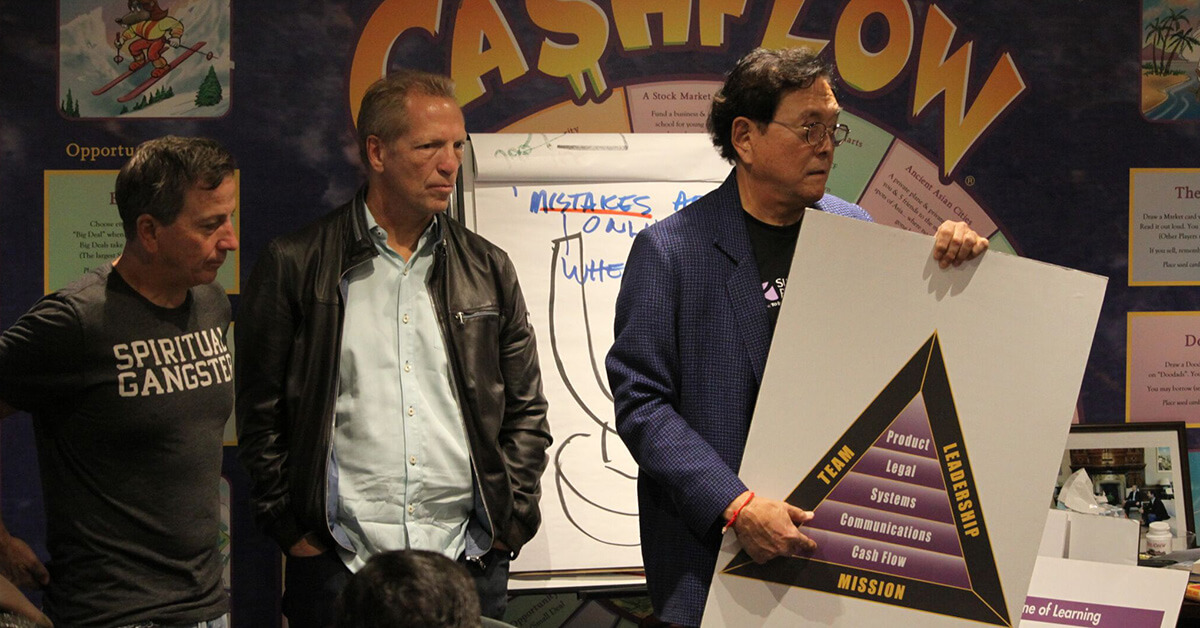 Robert Kiyosaki, Ken McElroy, and Tom Wheelwright teach the B-I Triangle