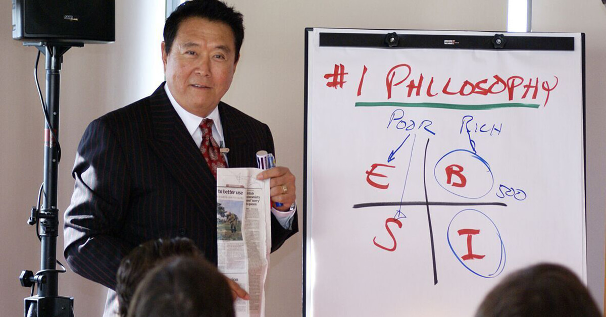 Robert Kiyosaki teaching the cash flow quadrant philosophy