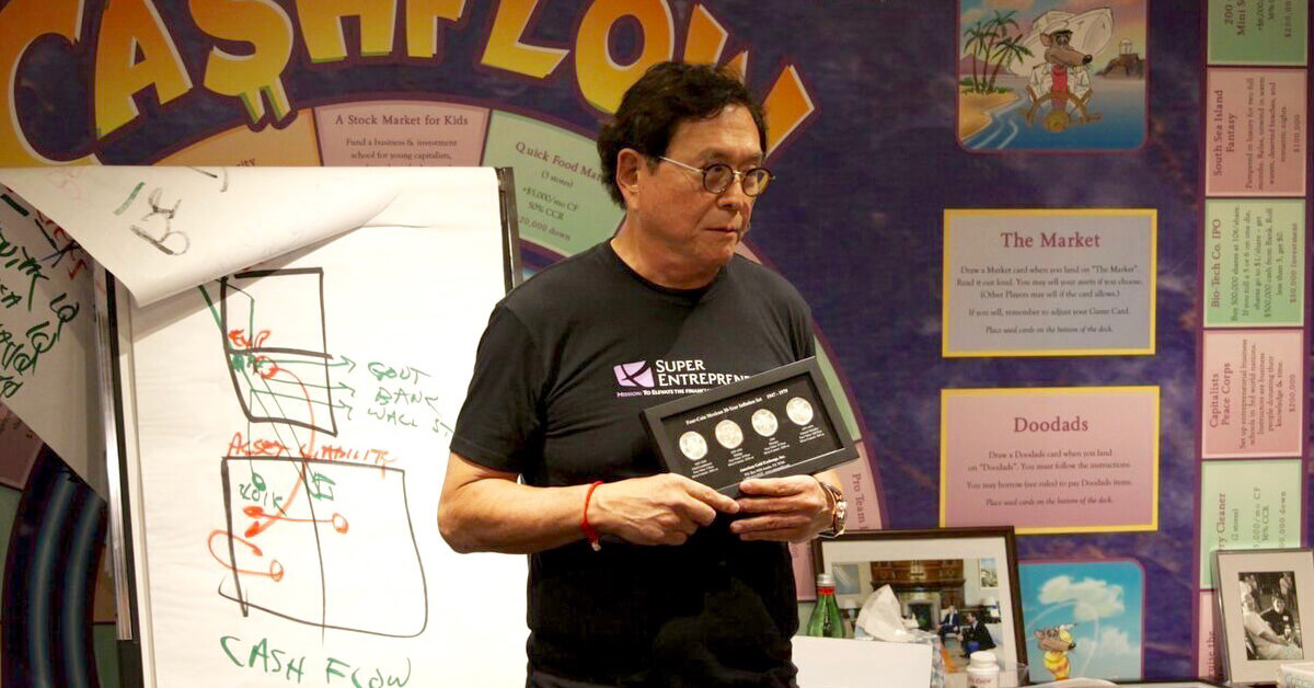 Robert Kiyosaki teaching about the importance of gold and silver as a store of wealth