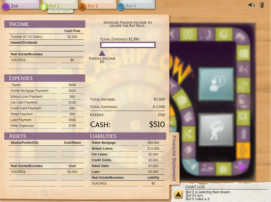 CASHFLOW The Web Game lobby image